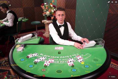 live blackjack evolution gaming